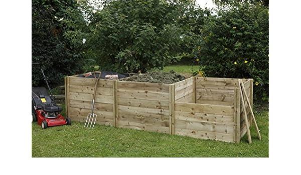 Ranura para plumón de madera cubo de basura para abono Kit de extensión: Amazon.es: Jardín