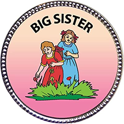 Keepsake Awards Big Sister, Award, 1 inch Dia Silver Pin Serving Others Collection: Toys & Games