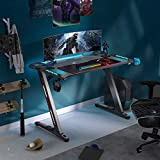 "EUREKA ERGONOMIC Z1-S Gaming Desk 44.5"" Z Shaped"