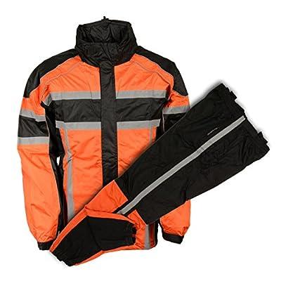 NexGen Men's Rain Suit (Black/Orange, X-Large): Automotive