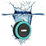 Qadira C-6 Portable Outdoor and Shower Bluetooth Speaker with Mic/Suction Cup...
