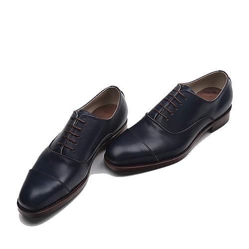 Chaussures oxford hommes cuir noir habillé