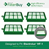 4 - FilterBuy Eureka Electrolux Sanitaire Compatible Washable HF1 (HF-1) HF12 (HF-12) HEPA Filters, Part # 60286A, Designed by FilterBuy to fit Eureka Electrolux Sanitaire Canister Vacuum Cleaners.