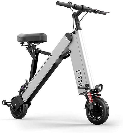 ZBB Bicicleta eléctrica Plegable Ligera y de aleación de Aluminio ...
