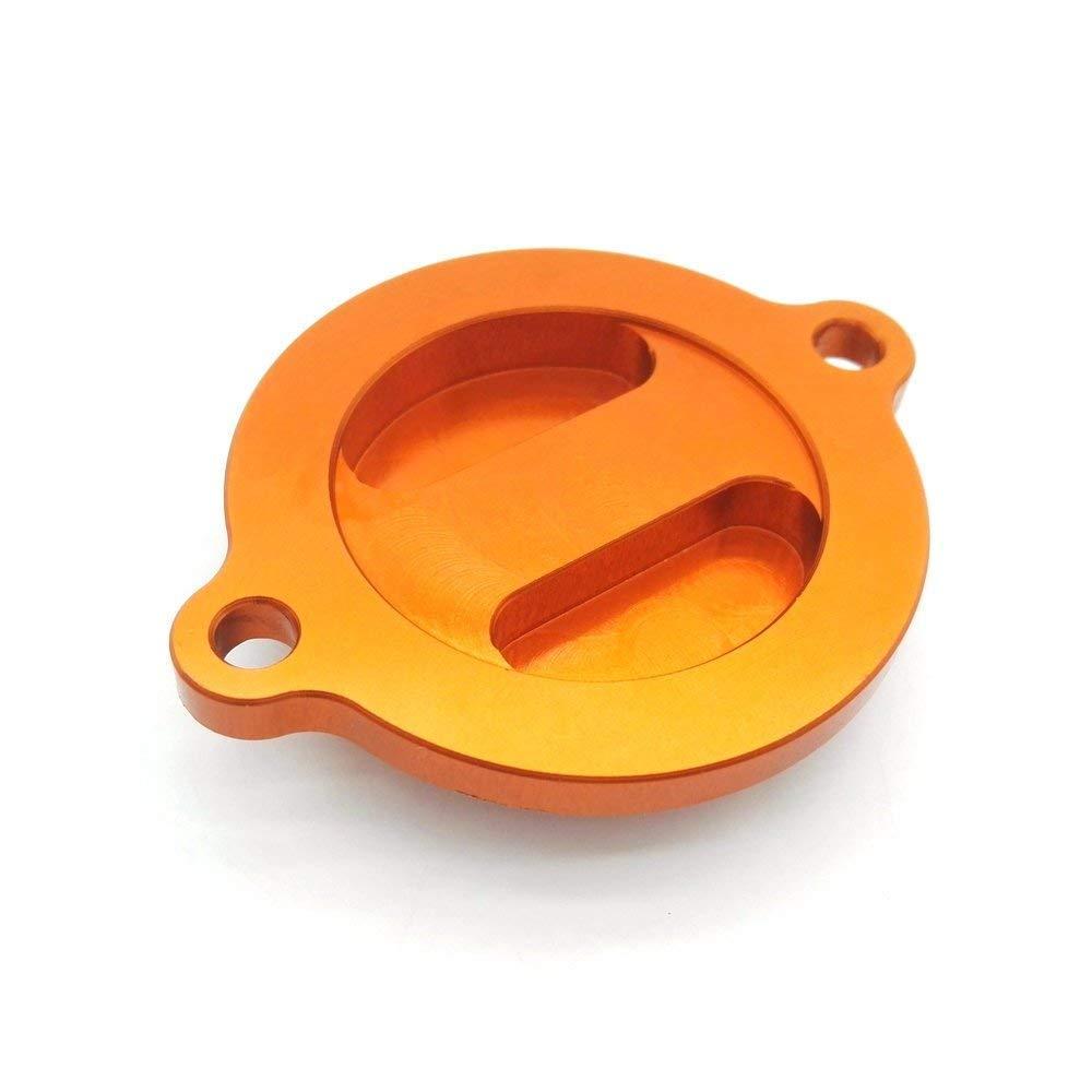 heinmo Aluminium CNC /Ölfilter Cover Gap orange f/ür 450 500 EXC 12 15 sx-f 13 15