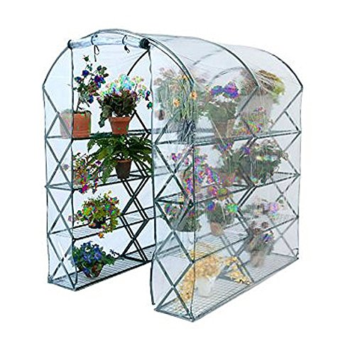 Flowerhouse Portable Greenhouse - GT Pop Up Greenhouses Folding Cover Portable Outdoor Garden shelves Tent Metal Frame Gardening Flowerhouse Covering Growing Kit Herb Patio Planting & Ebook by Easy2Find.