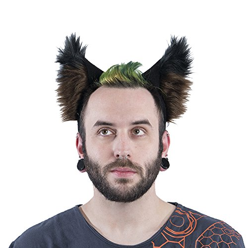 Pawstar Color Theme Wolf Ear Headband Furry Puppy Dog Costume Ears - (Dog Ear Headband Costume)