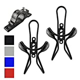 #4: Lumintrail 2 Pack Bike Bottle Holders w/ Handlebar Mount Adapter lightweight aluminum alloy bicycle water cage