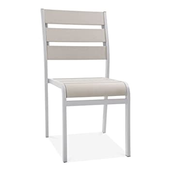 cult living atlanta outdoor dining chair grey polywood amazon co