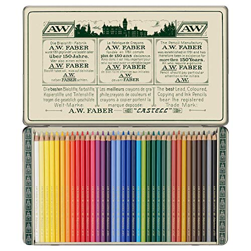 Faber-Castell Polychromos 111th Anniversary Limited Edition Wood Colored Pencil Tin - 36 Colors by Faber-Castell (Image #1)