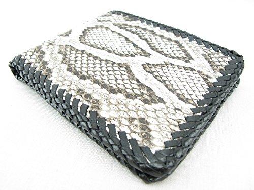 PELGIO Genuine Python Snake Skin Leather Bifold Handmade Wallet (Burmese Python)
