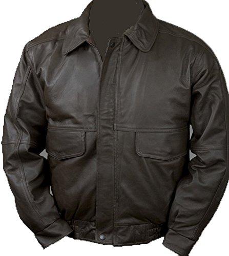 Burk's Bay Men's Napa Leather Flight Jacket M - Bay Jacket Leather