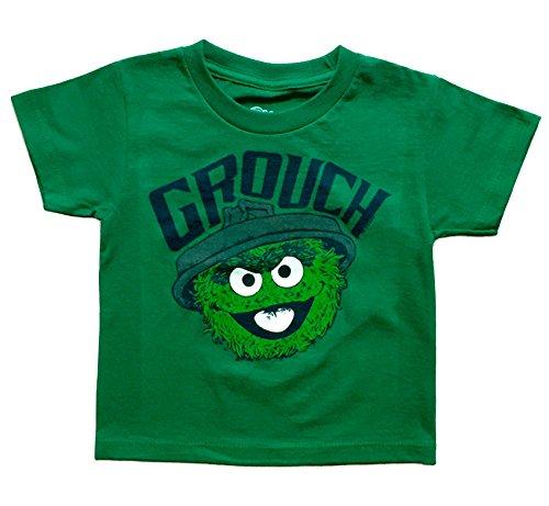 Sesame Street Oscar The Grouch Little Boys Toddler T Shirt (2T)
