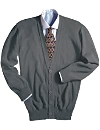 Men's Machine Washable V Neck Cardigan