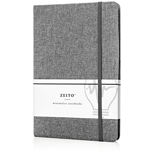 Fabric Journal (Zeito Journal Writing Notebook Hardcover, College Ruled, A5 (5x8), 240 Pages, Banded Journal, Bookmark Ribbon, Inner Pocket)
