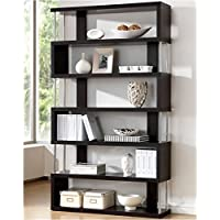 Bowery Hill Modern Bookcase in Dark Brown