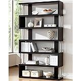 Bowery Hill Modern Bookcase in Dark Brown