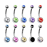 BodyJ4You Lot of 10pc 14G Belly Button Ring Body Jewelry Piercing 10 Pack