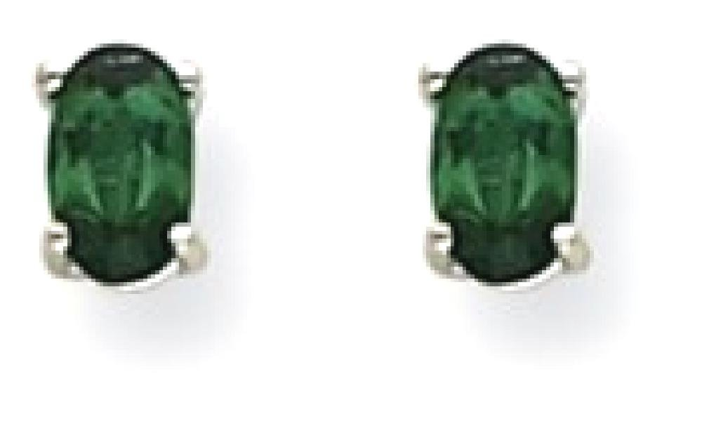 ICE CARATS 14k White Gold Green Tourmaline Post Stud Ball Button Earrings Gemstone Fine Jewelry Gift Set For Women Heart
