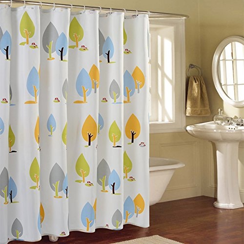 Cute Cartoon Tree Shower Curtain,Mildew Resistant Environmental Fabric Polyester Shower Curtain for Home,Hotel ,80x80inch by Shower Curtain (Image #2)