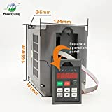 VFD 220V 2.2KW 3hp Variable Frequency Drive CNC VFD Motor Drive Inverter Converter for Spindle Motor Speed Control HUANYANG