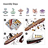 CubicFun LED 3D Puzzle Titanic Ship 3D Puzzles for