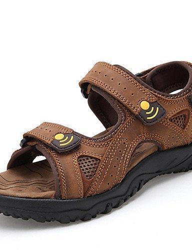 ShangYi Herren Sandaletten Herrenschuhe - Outddor - Sandalen - Leder - Braun / Khaki Brown