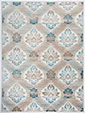 Antep Rugs Zeugma Collection Vintage Area Rug 294-Blue 5'3 X 7′ For Sale