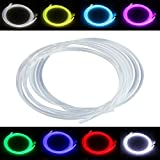 PMMA Optic Fiber Light Cable Side Glow Diameter for Fiber Optical Lighting Decoration 1M (0.39in)