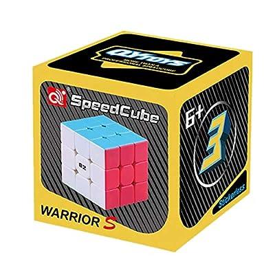 LiangCuber QiYi Warrior S 3x3 Speed Cube Stickerless Qiyi Warrior S 3x3x3 Magic Cube Puzzle Toys(Qiyi Warrior W Updated Version): Toys & Games