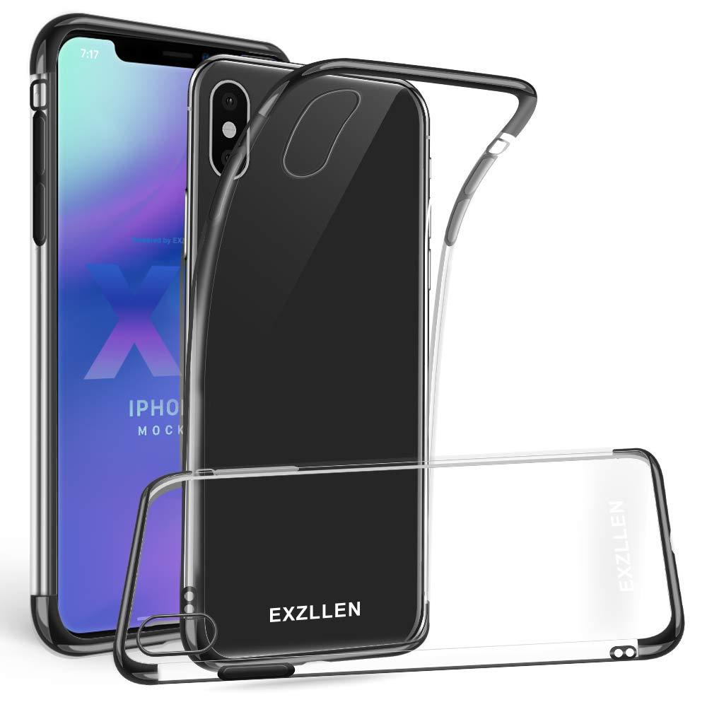 sale retailer 06e9c 730a3 EXZLLEN iPhone Xs Case/iPhone X Case, Ultra Thin Slim Clear Soft TPU Rubber  Gel Phone Case Compatible Transparent Flexible Protective Cover for Apple  ...