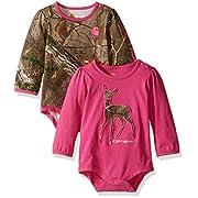 Carhartt Baby Girls' 2 Pack Bodysuit