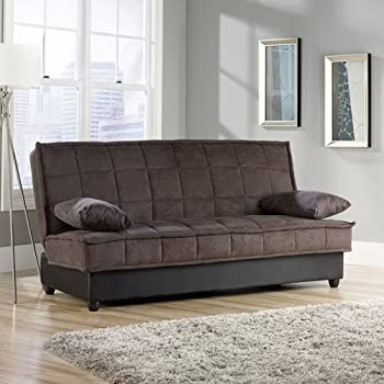 Convertible Comfy Sofa, Chocolate Microsuede. This Sleeper Sofa Is Perfect  For Guests. The Stylish Convertible Sofa Has Storage Underneath And A  Sturdy ...