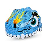 Dinosaur Blue Design Bicycle Cycle Cycling Bike Helmets Protective Gear for Toddler Child Children Kids Safety Protection,Ultralight Breathable Sport Bike Helmet for Youth Boy Girl Student Pupil For Sale