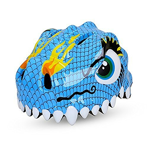 Kids Dinosaur Blue (Dinosaur Blue Design Bicycle Cycle Cycling Bike Helmets Protective Gear for Toddler Child Children Kids Safety Protection,Ultralight Breathable Sport Bike Helmet for Youth Boy Girl Student Pupil)