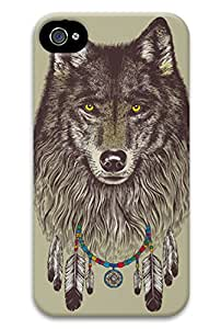 CaseandHome Wolf Windcatcher PC Material Hard Case For iphone 4/4S