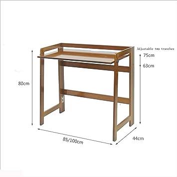 MJY Escritorio de computadora de madera maciza Escritorio de ...