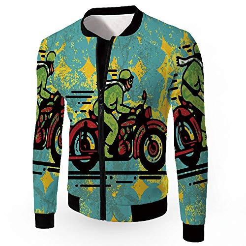 Coats,Motorcycle,Men's Lightweight Zip-up Windproof Windbreaker Jacket,A Young M