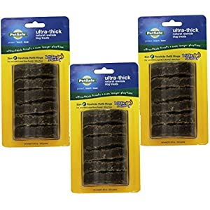 PetSafe Busy Buddy Ultra Refill Dog Treats for Large Busy Buddy Ultra Dog Toys, Natural Rawhide, Size F (3 Pack)