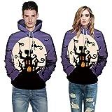 Halloween Costume Autumn Warmer Long Sleeve Couples Hoodies Top Blouse Shirts Sweatshirt Men Women (L, Purple)