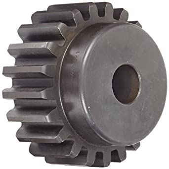 Martin Spur Gear, 14.5° Pressure Angle, High Carbon Steel, Inch, 5 Pitch