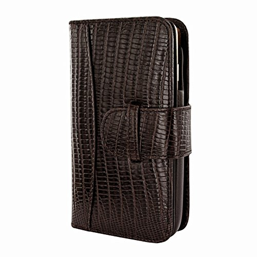 Piel Frama 678 Brown Lizard Leather Wallet for Apple iPhone 6 / 6S / 7 / 8 (Case Piel Frama Iphone)