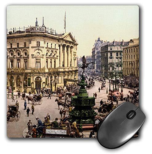 3dRose Russ Billington Designs- Old England Photographs - Piccadilly Circus- London Vintage Photograph - Mousepad (mp_255127_1)