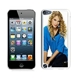 Newest And Fashionable iPod Touch 5 Case Designed With Taylor Swift Blonde Hair Style Singer Actress White iPod Touch 5 Screen Cover High Quality Cover Case