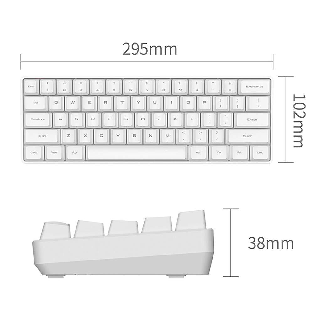 Amazon.com: Duminjun 61-key Mini Mechanical Keyboard USB Cable Ergonomic Typing Office Programmer Gaming Keyboard, White,black (Color : White): Home & ...