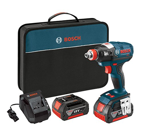 Bosch IDH182-01 18V Brushless Socket Ready Impact Driver with 2 Batteries, Charger and Case by Bosch