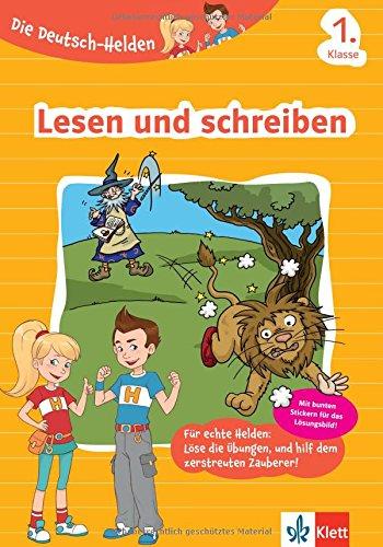 Klett Die Deutsch-Helden Lesen und schreiben 1. Klasse, Grundschule (mit Stickern)