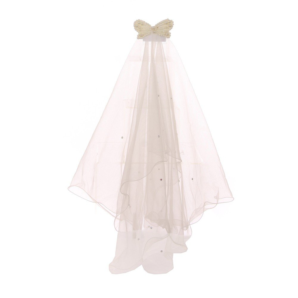 Cinderella Couture Girls Ivory Pearl Butterfly Comb Communion Flower Girl Veil