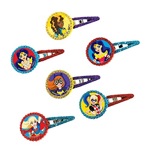 DC Super Hero Girls Hair Clips (12 Count) (Costumes With Purple Hair)