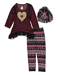 """RMLA Big Girls' """"Heart of Gold"""" 2-Piece Outfit with Scarf"""